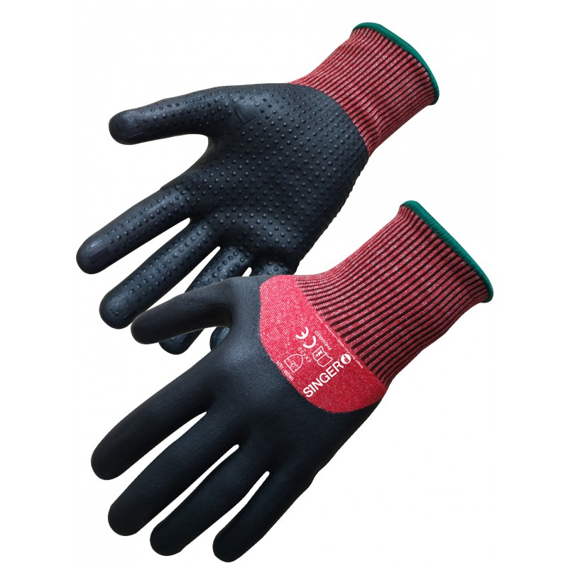 Gants nitrile et mousse, anticoupure PHD54RED