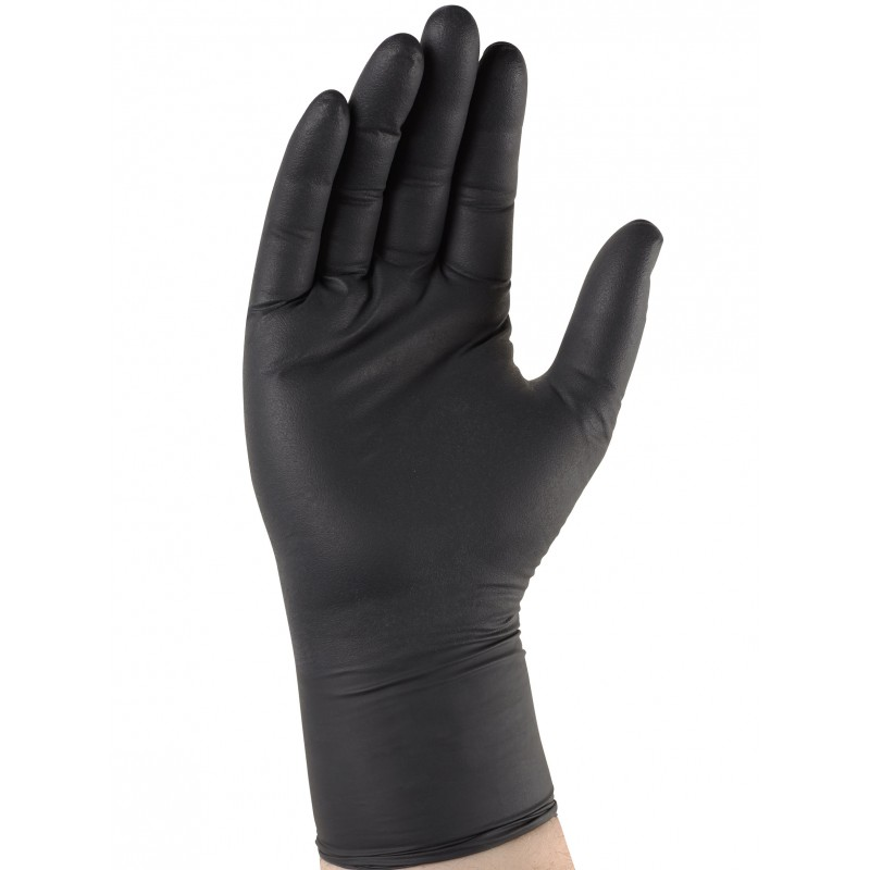 Gant nitrile noir à usage unique
