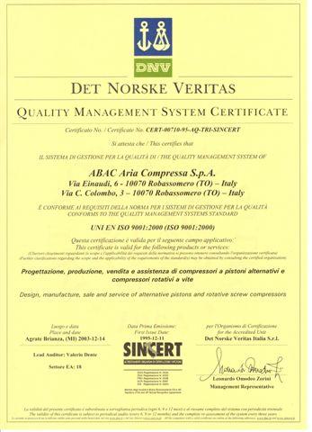 Réservoir de 90 litres certificat de qualité