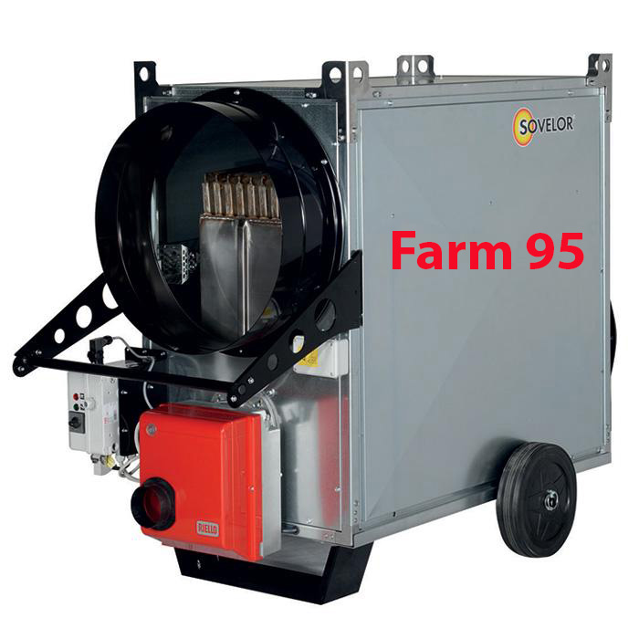 Voir la fiche produit Chauffage mobile air pulsé combustion indirecte Farm 95 Sovelor - SOVELOR