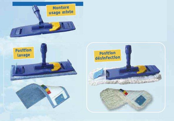 equipement de nettoyage et balayage - balai de désinfection à plat